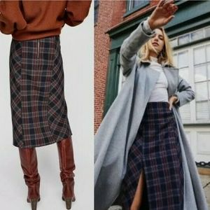 Free People Wellington Plaid Skirt Size 12 NWT